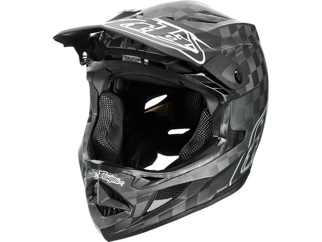 Troy Lee Designs D4 Carbon MIPS Helm stealth black/silver